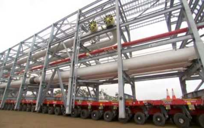 Modularised Pipe Racks for Vacuum Insulated Pipe